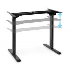Multidesk Comfort höhenverstellbarer Schreibtisch elektrisch 62-128 cm Höhe schwarz Schwarz | Elektrische Steuerung