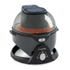 VitAir Pommesmaster Heißluftfritteuse 360° 1400W 50-240°C Timer Schwarz