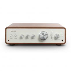 Drive Digital Stereo-Verstärker 2x170W/4x85W RMS AUX/Phono/Coax/Optical-In BT5.0 Fernbedienung walnuss  Walnuss
