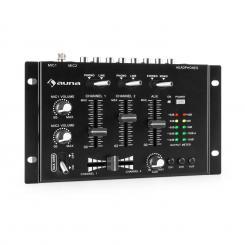 TMX-2211 MKII DJ-Mixer 3/2-Kanal Crossfader Talkover Cue Rack-Einbau schwarz Schwarz