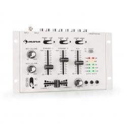 TMX-2211 MKII DJ-Mixer 3/2-Kanal Crossfader Talkover Cue Rack-Einbau weiß Weiß