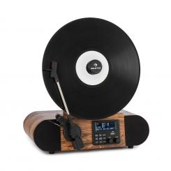 Verticalo SE DAB Retro-Plattenspieler DAB+ UKW-Tuner USB BT AUX holz Mit Bluetooth, DAB+ und UKW-Tuner