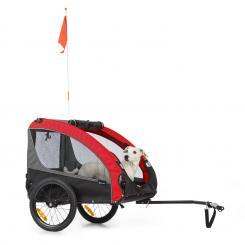 Husky Race Fahrrad-Hundeanhänger 282L 40kg 600D Oxford Canvas rot Rot/grau