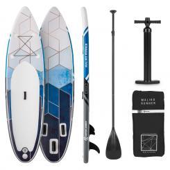 Maliko Runner aufblasbares Paddelboard SUP-Board-Set 305x10x77 grau/weiß Grau/weiß
