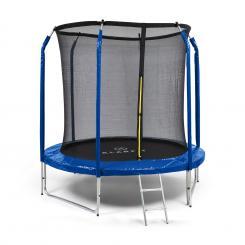Jumpstarter Trampolin 2,5m Ø Netz 120kg max. dunkelblau Dunkelblau