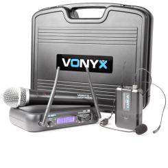 WM73C Funkmikrofon-Set drahtloses 2-Kanal UHF-Funksystem