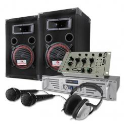 DJ PA Set 1000W Boxen Verstärker Mixer Kopfhörer Mic