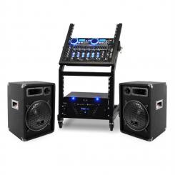DJ PA Set Rack Star Uranus Blues Bluetooth 250 Personen