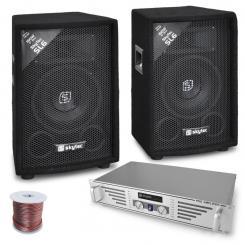 """DJ-PA Set """"Rookie"""" Verstärker Boxen 800W"""