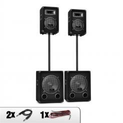 2.2 Etagen PA-Set passiv 2x 800WSubwoofer & 2x 300W PA Boxen