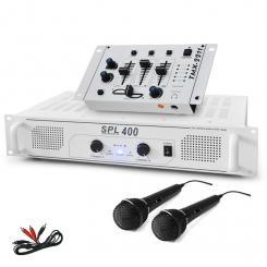 """DJ SET """"DJ-94"""" PA Verstärker DJ Mixer Mikrofon 1200W"""
