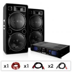 "DJ PA Anlage ""DJ-42"" Verstärker Lautsprecher 3000W"