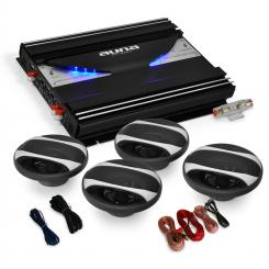 "4.0 Car Hifi Set ""Black Line 400"" Verstärker Box"