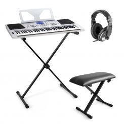 "Schubert ""Little Mozart"" Keyboard-Komplett-Set inkl. USB-MIDI-Keyboard 61 Tasten, DJ-Kopfhörer, Keyboard X-Ständer, Keyboard Bank höhenverstellbar"