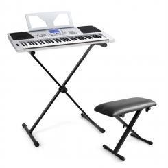 """Keyboard-Komplett-Set """"Little Brahms"""" USB-MIDI-Keyboard 61 Tasten, Keyboard X-Ständer, Keyboard Bank höhenverstellbar"""