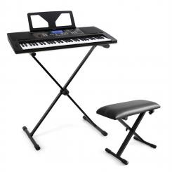 """Little Beethoven"" Keyboard-Komplett-Set mit USB-MIDI-Keyboard 61 Tasten, Keayboard-Ständer, Hocker"