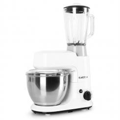 Carina Bianca Set 800W Küchenmaschine plus 1,5L Blender Krug Weiß