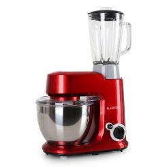 Carina Rossa Set 800W Küchenmaschine plus 1,5L Blender Krug Rot
