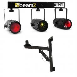 3 Some Laser LED-Lichteffekt-Set 5-tlg. mit Wandhalterung