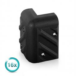 6er Set LLE Schutzecken universal PA Box Lautsprecher Plastik 52x52x85mm