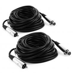 2 x FrontStage XLR-Kabel 10m männlich zu weiblich mit hochwertigen Anschlüssen