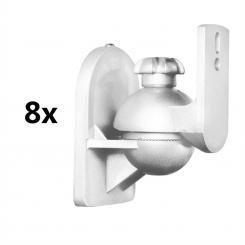 SB-28 Lautsprecherhalter 8er-Set weiß <3,5kg Heimkino HiFi