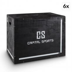 "Shineater BK Set Plyo-Box Jump Box 3 Höhen 20"" 24"" 30"" Holz schwa"