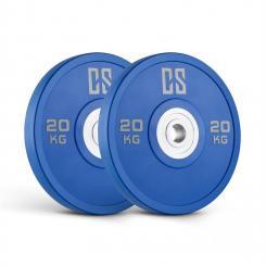 Performan Urethane Plates Gewichtsplatten Paar 20kg Blau 2x 20 kg