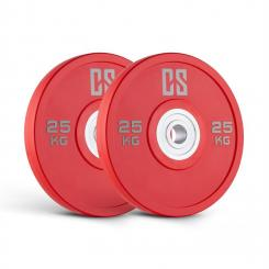 Performan Urethane Plates Gewichtsplatten Paar 25kg Rot 2x 25 kg