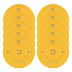 Nipton Bumper Plates 5 Paar 15kg Gelb Hartgummi 10x 15 kg