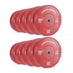 Nipton Bumper Plates 5 Paar 25kg Rot Hartgummi 10x 25 kg