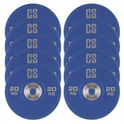 Performan Urethane Plates Gewichtsplatten 5 Paar 20kg Blau 10x 20 kg