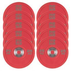 Performan Urethane Plates Gewichtsplatten 5 Paar 25kg Rot 10x 25 kg
