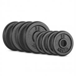 IPB 15kg Set Gewichtsscheibenset4 x 1,25 kg + 4 x 2,50 kg 30 mm