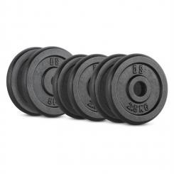 IPB 20 kg Set Gewichtsscheibenset 4 x 2,5 kg + 2 x 5 kg 30 mm