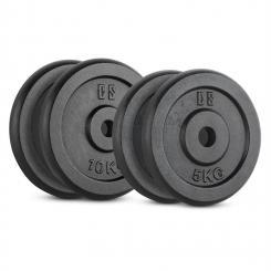IPB 30kg Set Gewichtsscheibenset 2 x 5 kg + 2 x 10 kg 30 mm