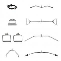 Mastergym Kabelzug Set 7 KabelzughilfenStahl Nylon