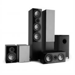 Reference 851 5.1-Soundsystem schwarz inkl. Cover silber Schwarz | Grau