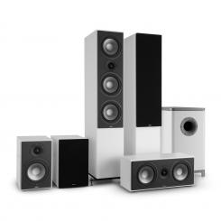 Reference 851 5.1-Soundsystem weiß inkl. Cover schwarz Weiß | Schwarz