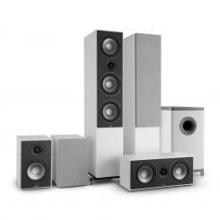 Reference 851 5.1-Soundsystem weiß inkl. Cover silber Weiß | Grau