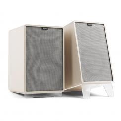 Retrospective 1978 MKII 3-Wege-Regallautsprecher weiß inkl. Cover grau Weiß | Grau | Transparent
