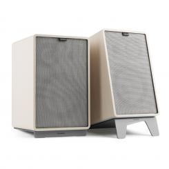 Retrospective 1978 MKII 3-Wege-Regallautsprecher weiß inkl. Cover grau Weiß | Grau | Grau