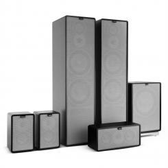 Retrospective 1977 MKII 5.1 Soundsystem schwarz inkl. Cover grau Schwarz | Grau