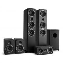 Octavox 751 MKII 5.1 Soundsystem schwarz Schwarz