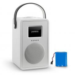 Mini Two Design-Internetradio WiFi DLNA Bluetooth UKW weiß inkl. Akku Weiß | Akku