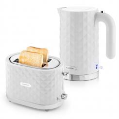 Granada Bianca Frühstücksset 2000W Wasserkocher 1000W Toaster weiß