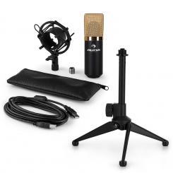 MIC-900BG-LED USB Mikrofonset V1 | Kondensator-Mikrofon | Tischstativ