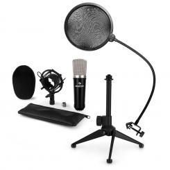 CM003 Mikrofon-Set V2 Kondensatormikrofon XLR Mikrofonstativ POP-Schutz