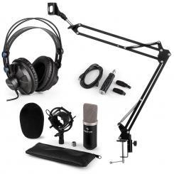 CM003 Mikrofon-Set V3 Kondensatormikrofon USB-Konverter Kopfhörer schwarz