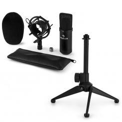 CM00B Mikrofon-Set V1 - schwarzes Studio-Mikrofon Spinne Tischstativ